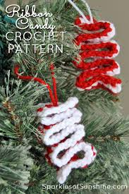 Crochet Decoration Patterns Easy Crochet Ribbon Candy Christmas Ornament With Free Pattern