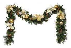 decorated christmas garland designcorner Christmas Garland Decorations