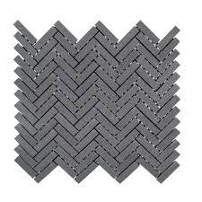 manhattan 10 in x 11 in x 8 mm honed basalt mosaic tile