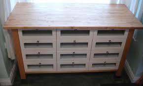 ikea varde freestanding kitchen base unit storage unit 12 drawer birch wood worktop