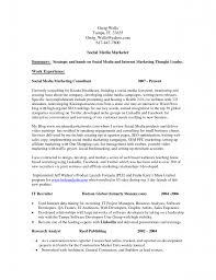 resume social media resume example template social media resume example