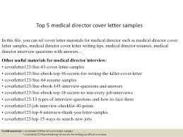 Sample Medical Resume Cover Letter Top 5 Medical Director Cover Letter Samples