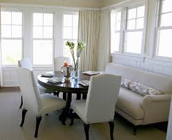 dining settee chairs. urban grace interiors - dining rooms settee, round table, camelback chairs, chic room design with gray sofa, espresso settee chairs