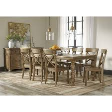 extendable dining room table by signature design by ashley. trishley solid pine rectangular dining room extension table with turned legs by signature design ashley at knight furniture \u0026 mattress extendable