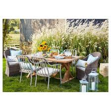 target threshold outdoor dining set. morie farmhouse wood outdoor dining table - threshold™ target threshold set
