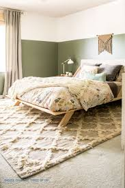 Boho Modern Eclectic Bedroom featuring a bohemian rug, schoolhouse electric  duvet, target decor,