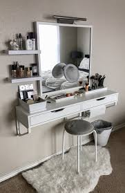Vanity With Mirror Bedroom Lights Makeup Set Walmart Flip Top Cool ...