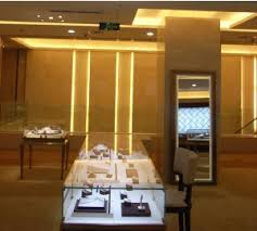 lighting makes jewelry brilliant and bright special lighting effect of solars reflects the top level of a jewelry or watch shop lighting color is chosen bright special lighting