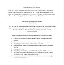 thank you note scholarship thank you letter to mentor 9 free sample example format download