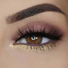 brown and gold eye makeup for prom skinmakeup