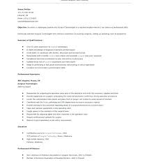 Radiologic Technologist Resume Templates Entry Level Technologist