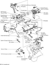 similiar 2005 l4 2 2 engine parts diagram keywords engine intake ignition and fuel system location 2 2l 5s fe engine
