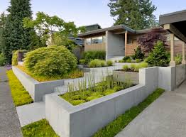 Black Standing Stone Planter Box Ideas Faced Off Concrete Plus Outdoor  Planters Images Exterior Massive Rectangular