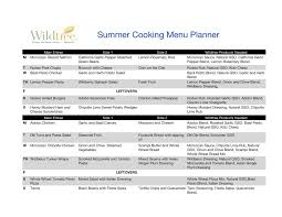 one week menu planner cooking with wildtree june 2010