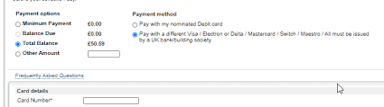 curve fronted paying credit card