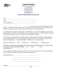 notice to vacate letter template sles letter templates