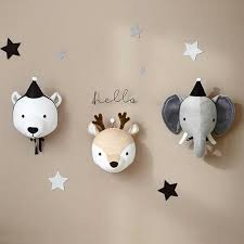 3D <b>Animal</b> Head Wall Mount <b>Zebra</b>/<b>Elephant</b>/<b>Giraffe</b> Stuffed Toys ...