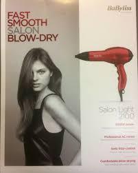 Babyliss Salon Light 2100 Babyliss 5568bu Salon Light 2100w Professional Lightweight Ac Ionic Hair Dryer
