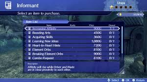 List Of All Informant Merchant Answers Guide In Xenoblade