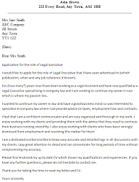 Writing A Legal Cover Letter 17 Executive Example
