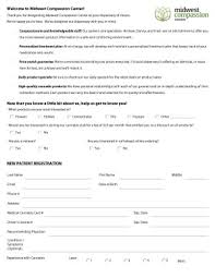 medical patient registration form illinois medical marijuana dispensary patient forms