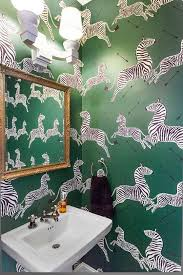 Wonderful Push Your Style: 7 Bold Ideas From Pros U2014 Professional Projects. Green Scalamandre  Wallpaper Zebras Wallpaper Spices Up A Powder Room By Rebekah Gainsley.