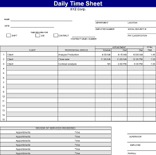 3 Daily Timesheet Template Free Download