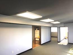led panel lights upgrade both suspended