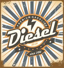 Diesel Graphic Design Vintage Poster Design With Diesel Fuel Theme