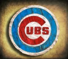 chicago cubs handmade distressed wood