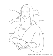 Small Picture Mona Lisa coloring page