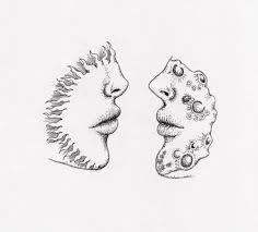 Love Illustration Couple Moon Kiss Sun Planets Voarcomo1ventilador