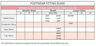 Capezio Shoe Chart Capezio 2027 Leather Juliet Ballet Shoe The Dance Shoppe