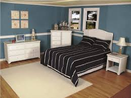 White Rattan Wicker Bedroom Furniture Set Which Mixed With Blue