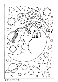 Man Moon Coloring Pages