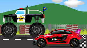 Monster Truck Vs Sports Car Kids Video Kids Toy Race Youtube