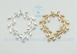 laurel wreath earrings chandelier earrings findings matte finished gs072