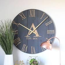 large wall clock blue wall clocks