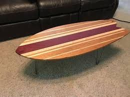 surfboard furniture. Hardwood Purpleheart Cherry And Maple Surfboard Coffee Table - Tables Furniture L