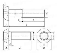 Gb T 70 2 2000hexagon Socket Flat Round Head Screws