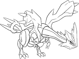 Small Picture Coloring Pages Pokemon Kyurem Drawings Pokemon