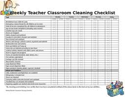 cleaning checklist weekly classroom cleaning checklist by melodious creations tpt