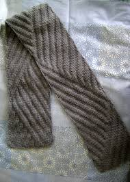 Ribbed Scarf Pattern Fascinating Tilting Ribs Scarf Update FlorrieMarie