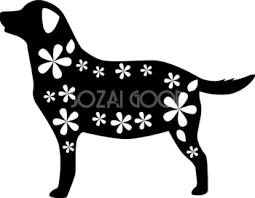 白黒の犬イラスト 無料フリー 素材good