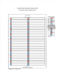 Electrical Panel Schedule Template Electrical Panel Schedule