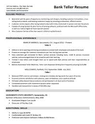 Resume For Teller Position Bank Teller Resume Sample Writing Tips Resume Companion