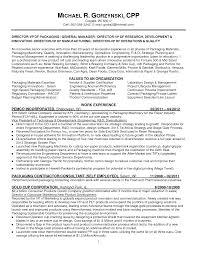 Packaging Resume Samples Packaging Engineer Resume Sample Free Resume 1