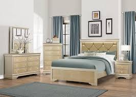 Abel Gold Dresser Mirror Queen Bed