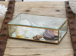Decorative Display Boxes Box Antique Brass Glass Display Box 2
