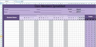 Attendance Sheet Template Excel Mediaschool Info